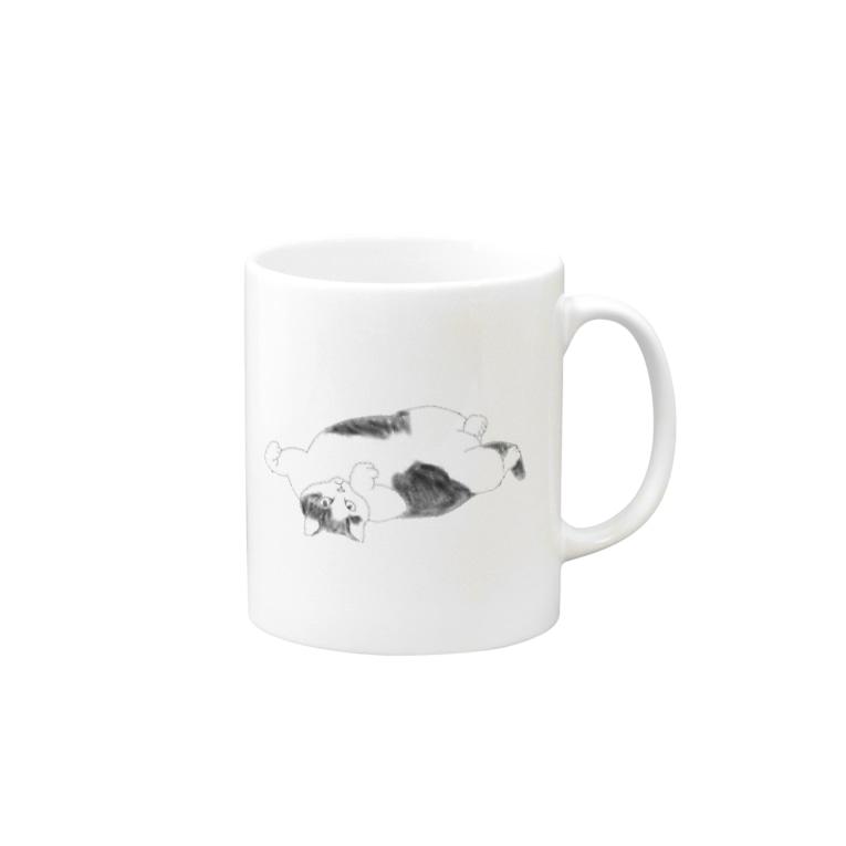 ちなこ☆動物にも愛をの誘惑する猫 Mugs
