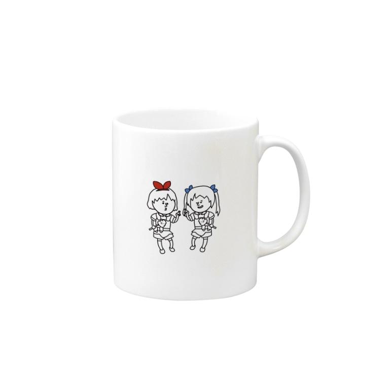 おめが商店 SUZURI支店のおめがの2人 Mugs