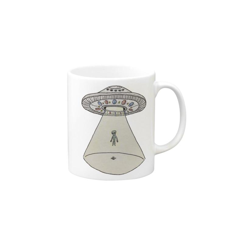 SA-ULEENUFO🛸のUFOから宇宙人 Mug