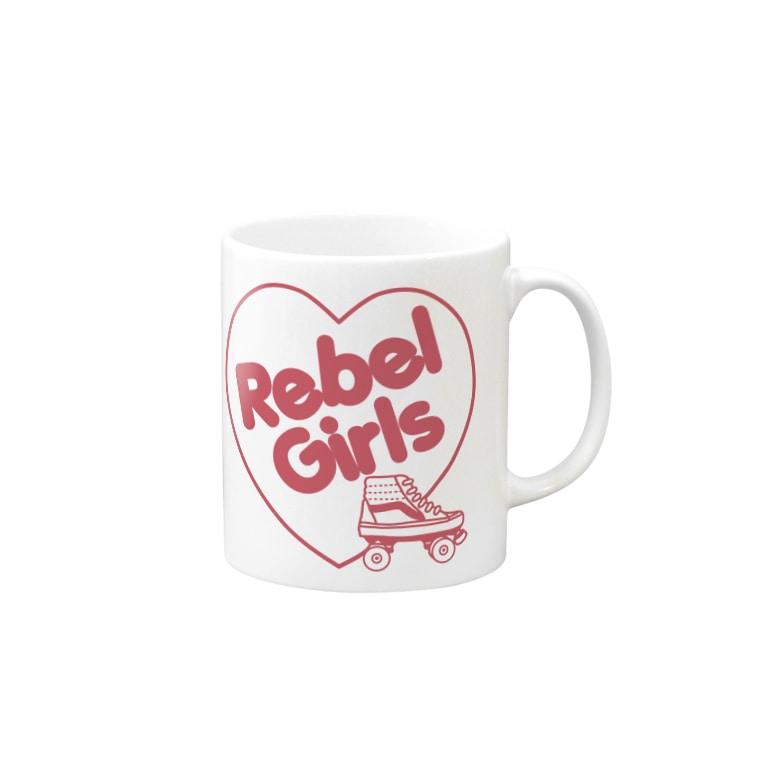 ITSUMItalkstoreのREBEL ROLLER GIRLSピンク Mugs