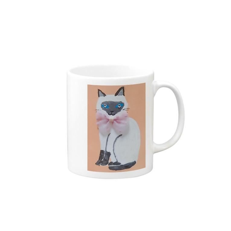 CUTIE BOXのシャムネコちゃん Mugs