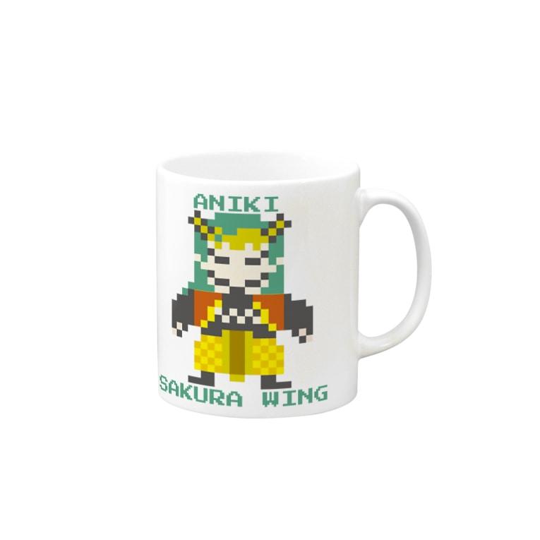 SAKURA WING LLC.のドット絵シリーズ【兄鬼】 Mugs