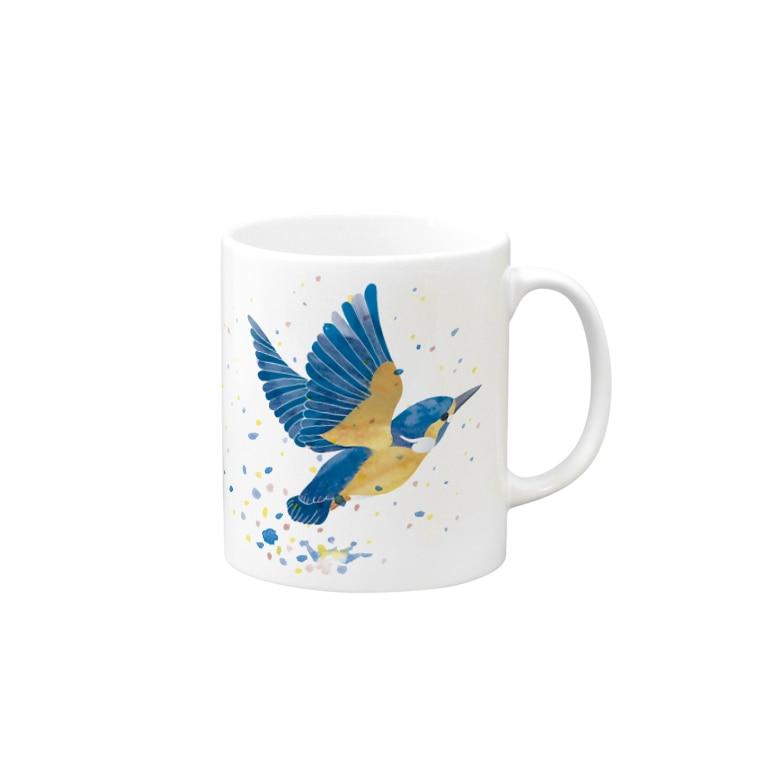 ヒフミヨイのカワセミ飛沫 Mug