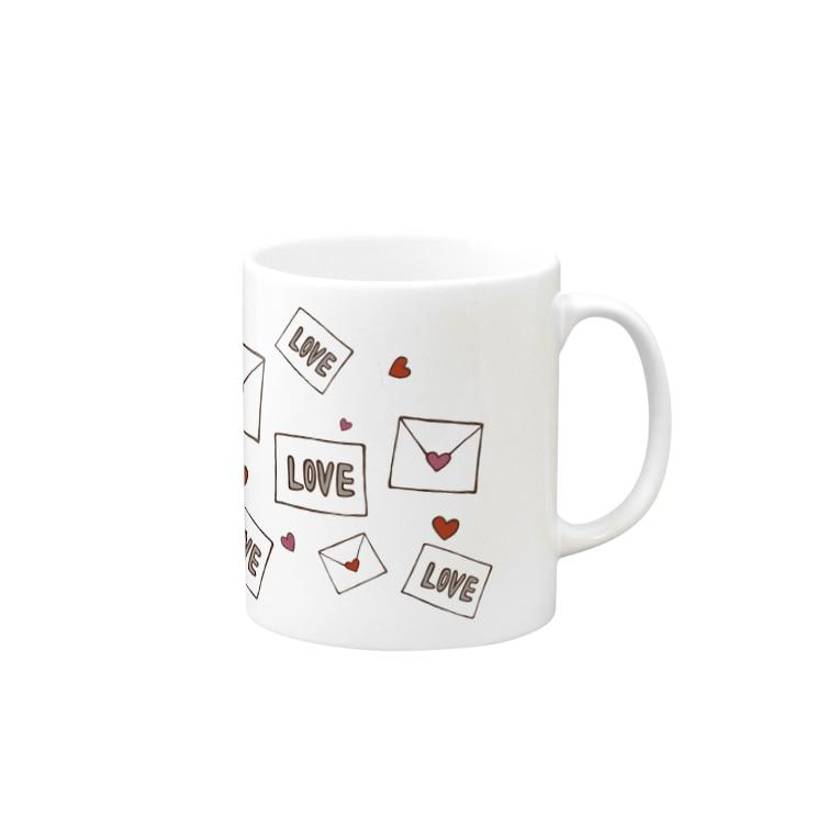 イラストレーター yasijunのラブレターマグカップ Mugs
