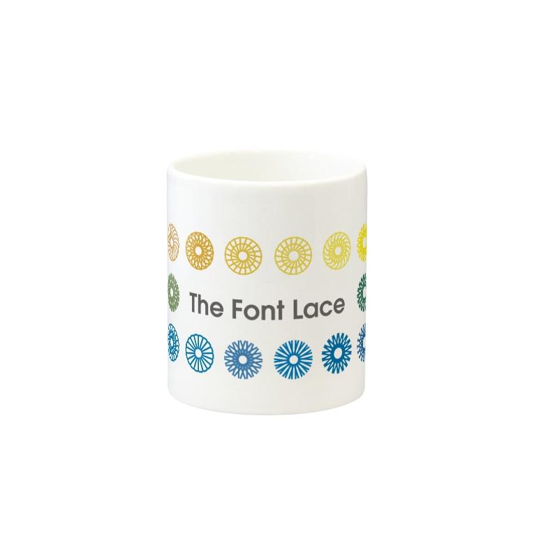 やんちゃかぶり🧢のThe Font Lace(横長) Mugsの取っ手の反対面