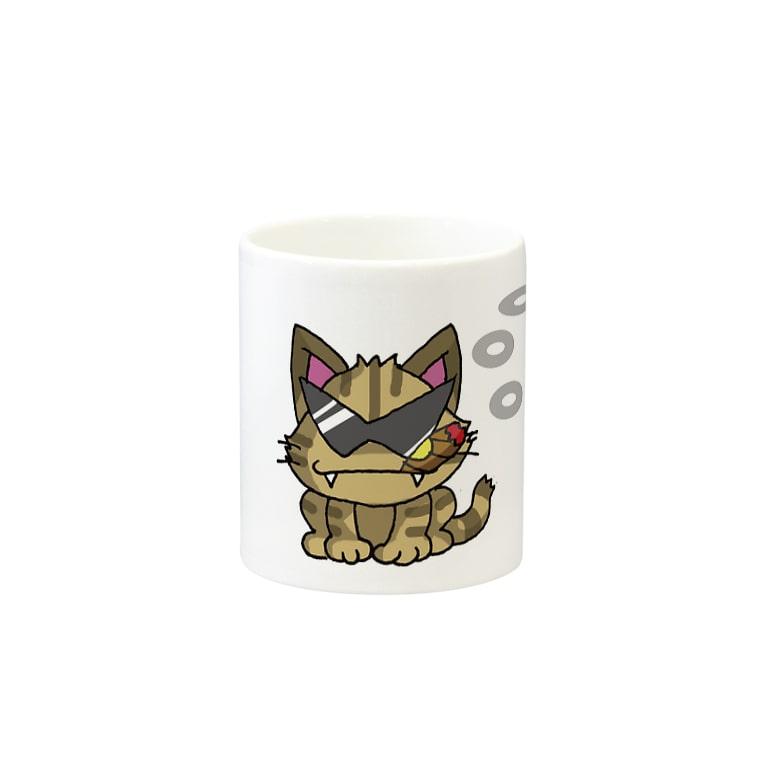 vidalのグレ猫 Mugsの取っ手の反対面
