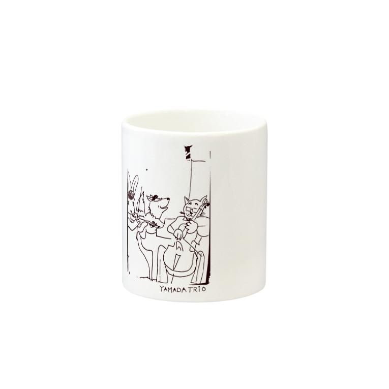 YAMADA TRIO(ヤマダトリオ)のYAMADA TRIOロゴ原案 Mugの取っ手の反対面