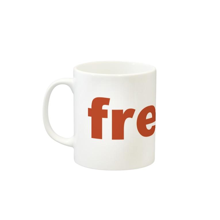 FREAKY_WARDROBE_COFFEEのふりーきー Mugsの取っ手の左面
