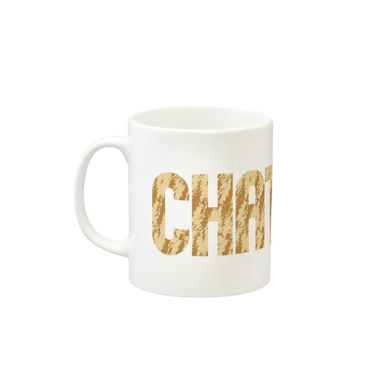 SHOP W SUZURI店のCHATORA マグカップ Mugsの取っ手の左面