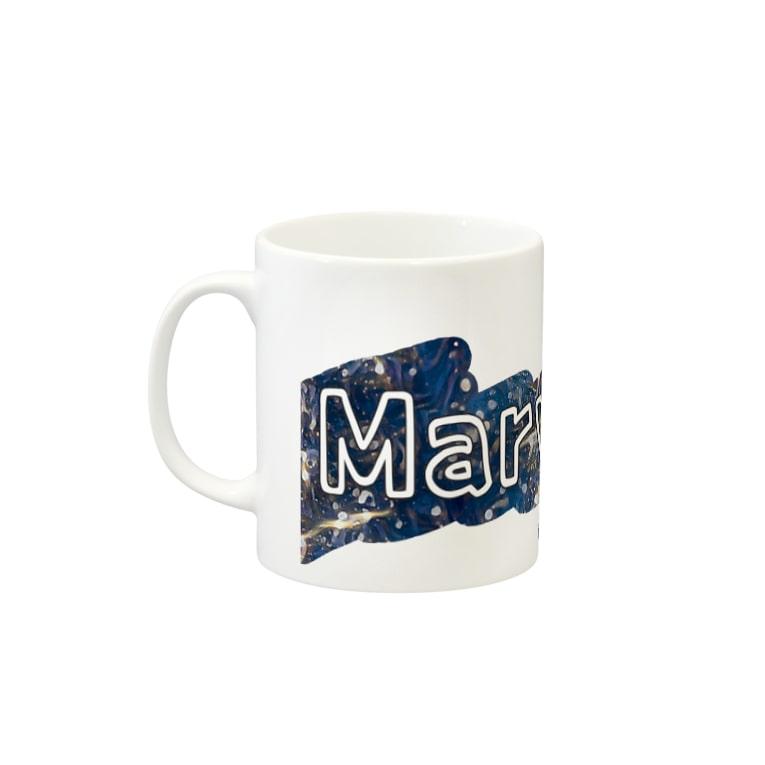 響のMarvelousWorld Mugの取っ手の左面