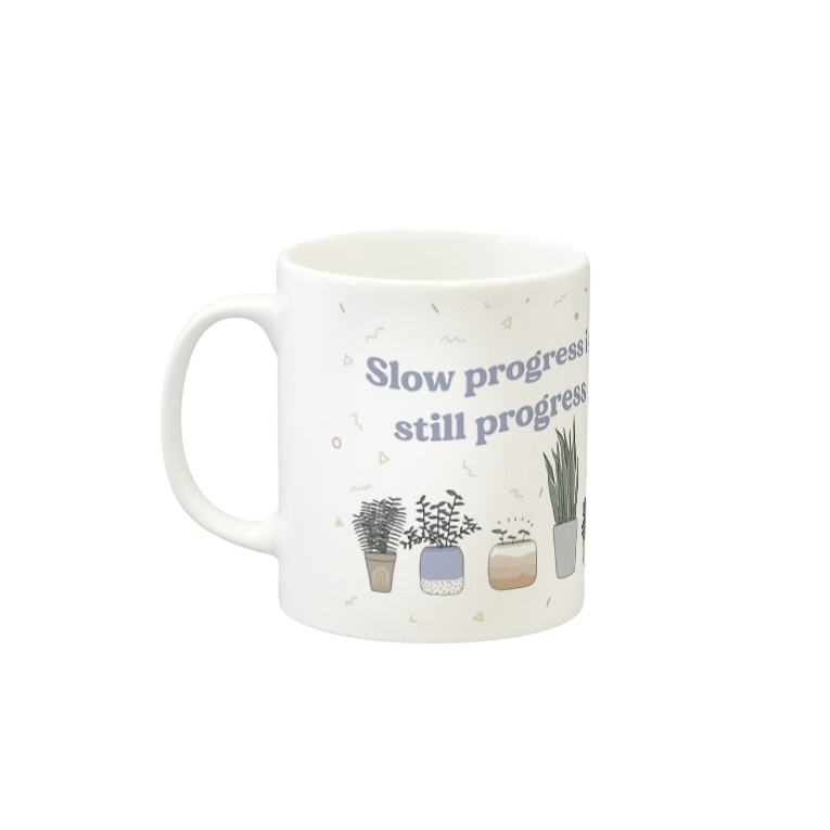 Cheeseart (Chi)のSlow progress Mug Mugsの取っ手の左面