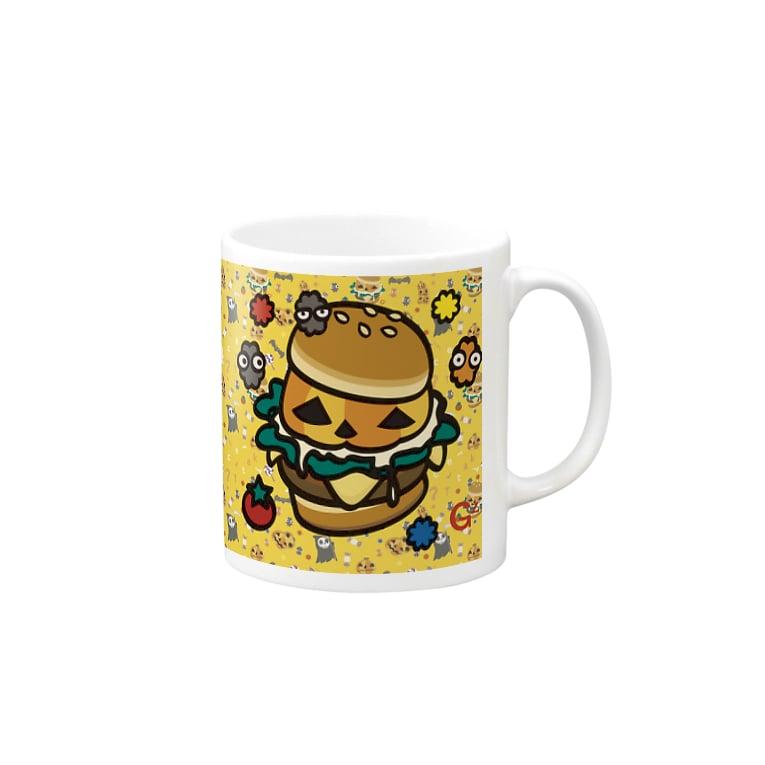 *suzuriDeMonyaa.tag*の【SZ】GAZIGAZI-HALLOWEEN・4 Mugsの取っ手の右面