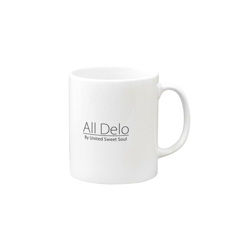 United Sweet Soul MerchのAll Delo Mugsの取っ手の右面