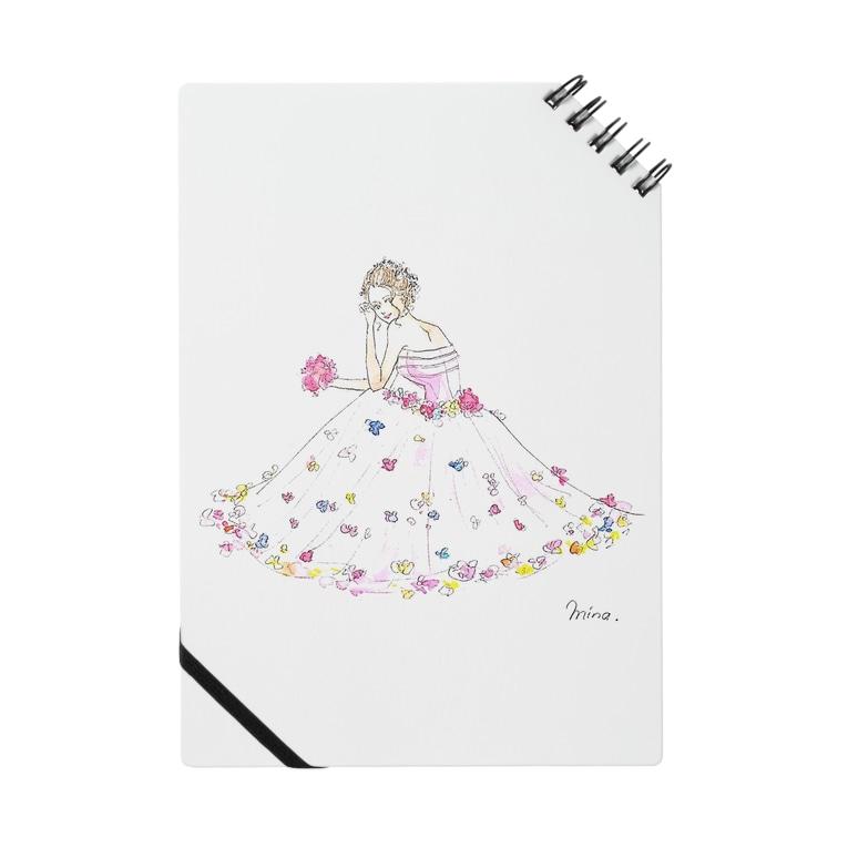 花のドレスの女の子 Mina イラスト Mn Lip25 のノート通販 Suzuri スズリ
