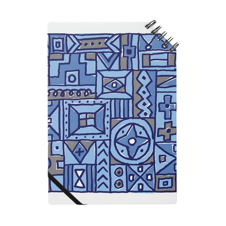 〈ヤマサキサチコ〉ショップのマルサンカクシカク_ブルー Notes