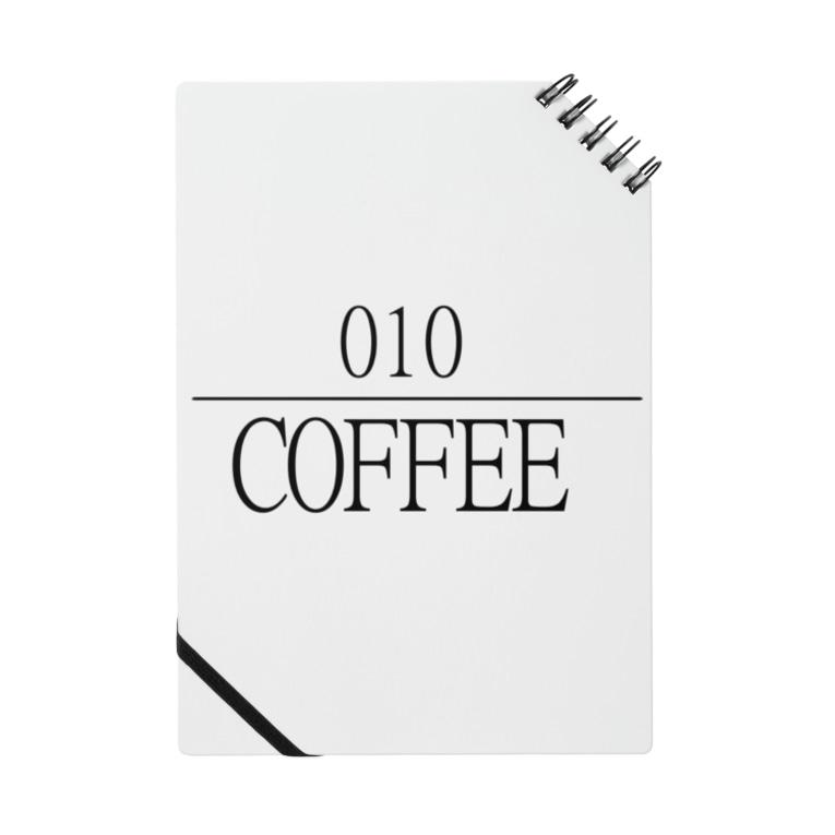 ゼロイチゼロショップの010coffee logo Notes