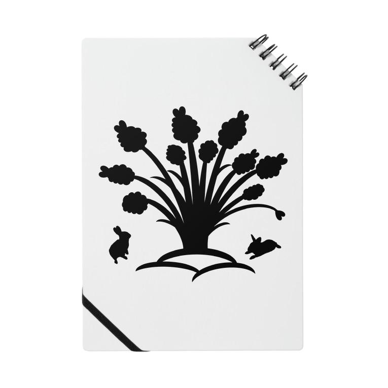 うさぎのきた道&の白黒木兎f Notes