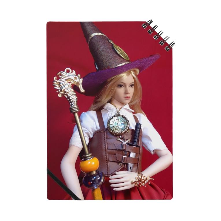 FUCHSGOLDの人形写真:ダンジョンアタッカー・魔法使いの帽子と杖を装備したブロンド美少女の冒険者 Doll picture: Blonde witch as donjon attacker Notes