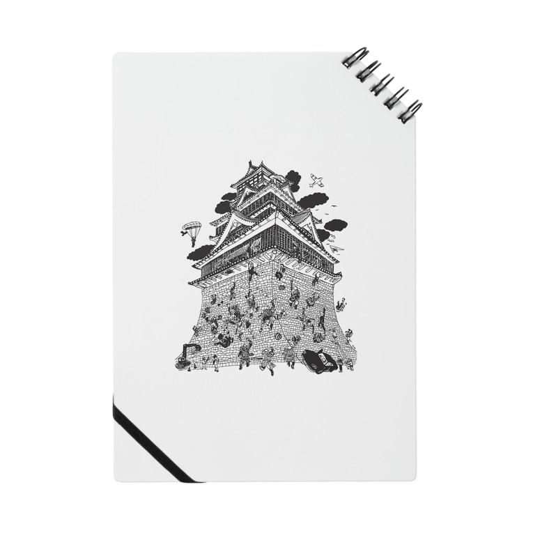 OW STOREの熊本城武者返し イラストカラー:ブラック Notes