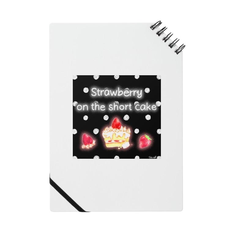 どるちぇ*うさぎの《フード01》*苺のショートケーキ*黒白ドット Notes