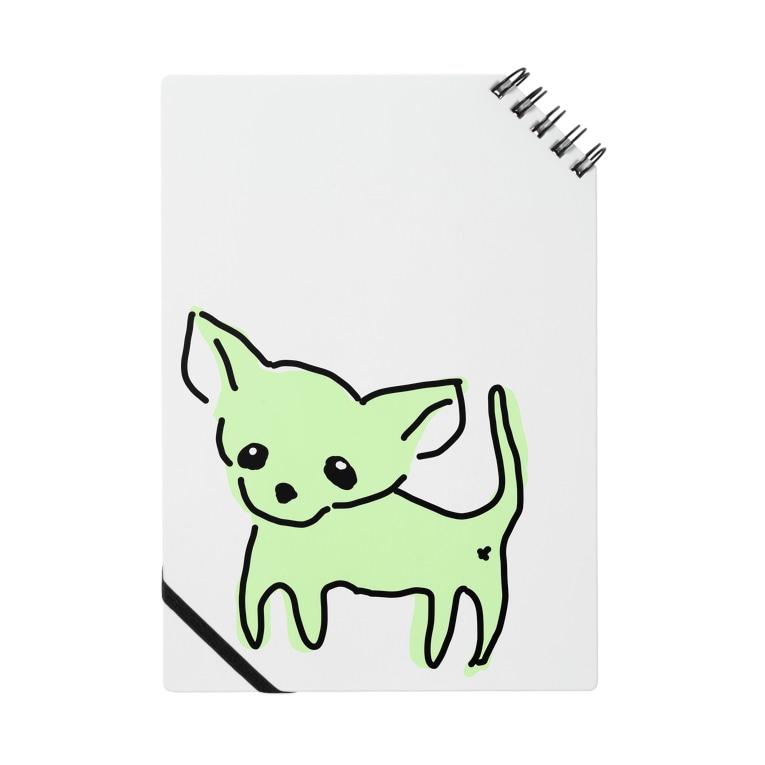 akane_art(茜音工房)のゆるチワワ(グリーン) Notes