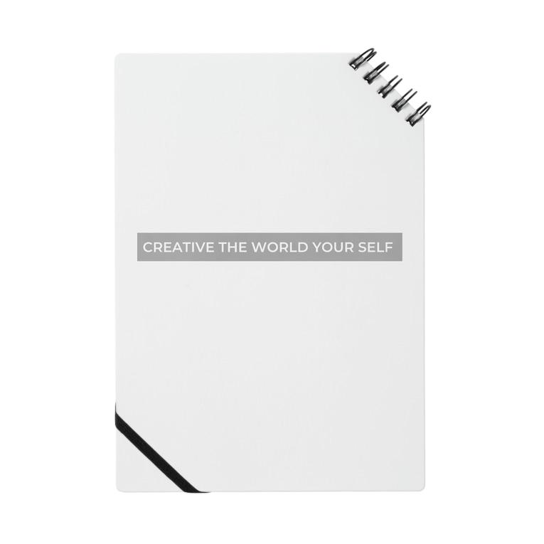 sappori BLOGのcreative the world your self(グレー) Notebook