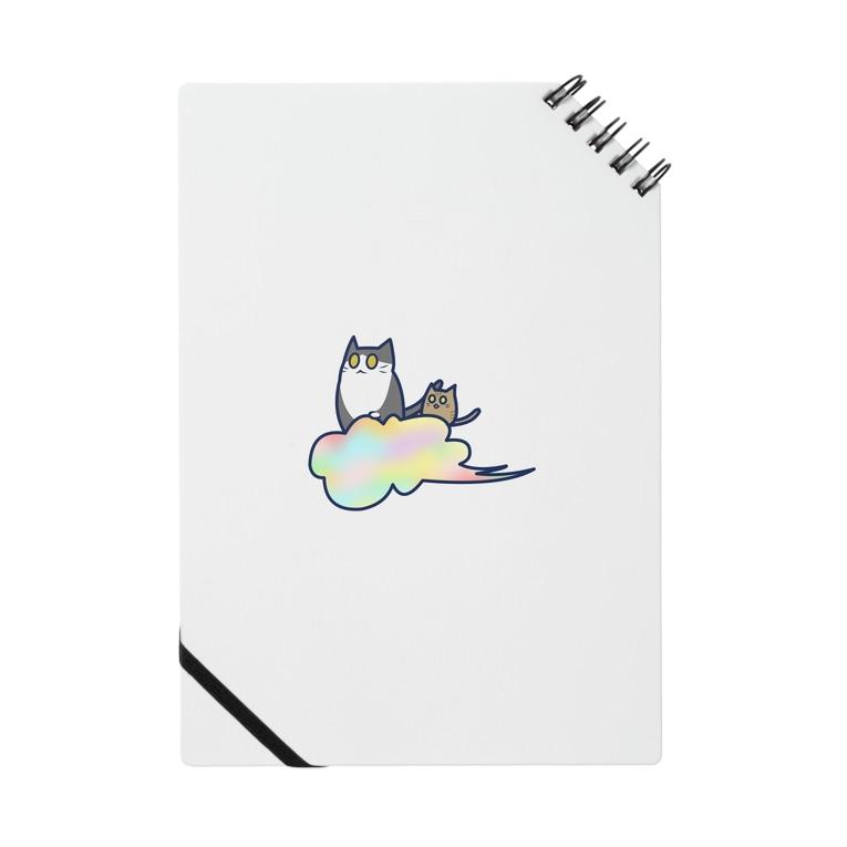 cosmicatiromの五色の雲と二匹の猫 Notebook