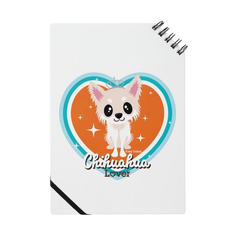 FOXY COLORSのチワワ クリーム Notebook