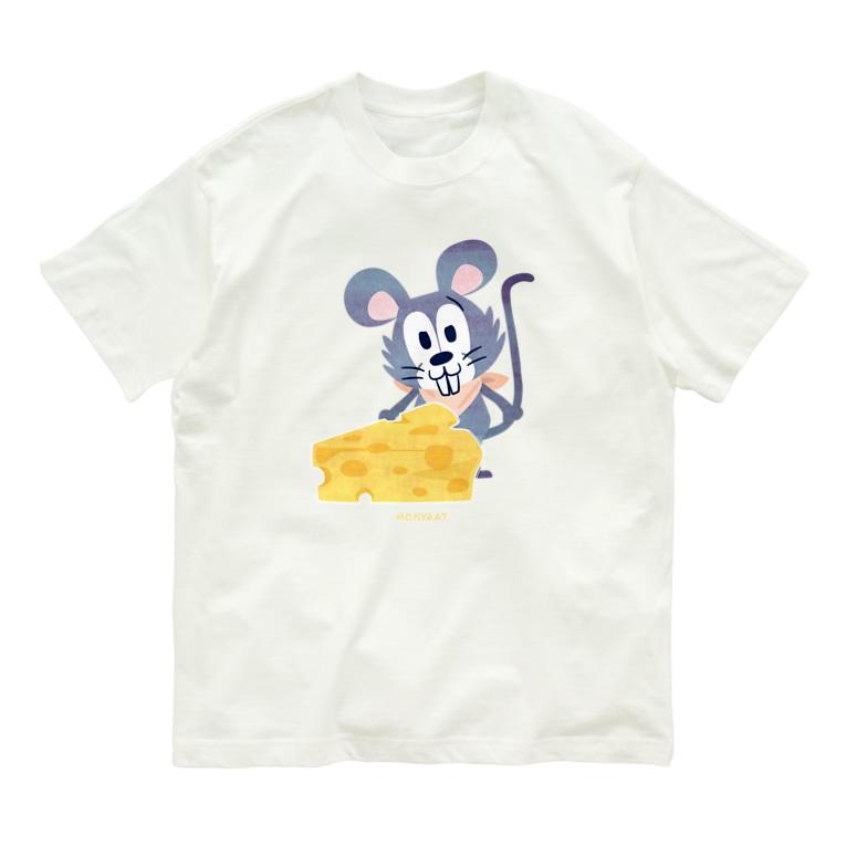 *suzuriDeMONYAAT*の1926チーズはここに!いろいろA Organic Cotton T-Shirt