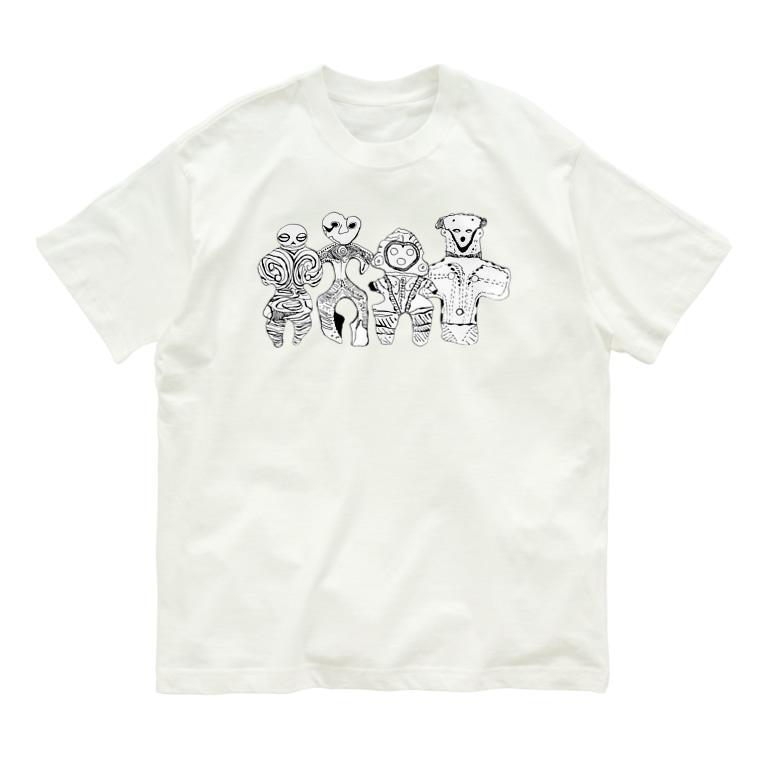 オガサワラミチの土偶4人組 Organic Cotton T-shirts
