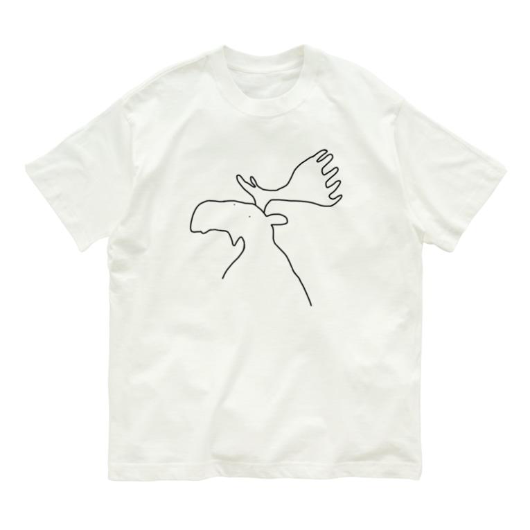 Kota art shopのヘラジカ Organic Cotton T-shirts