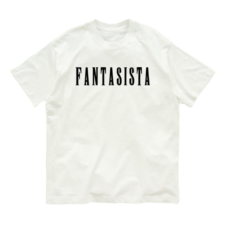 DRIPPEDのFANTASISTA 黒ロゴTシャツ Organic Cotton T-shirts
