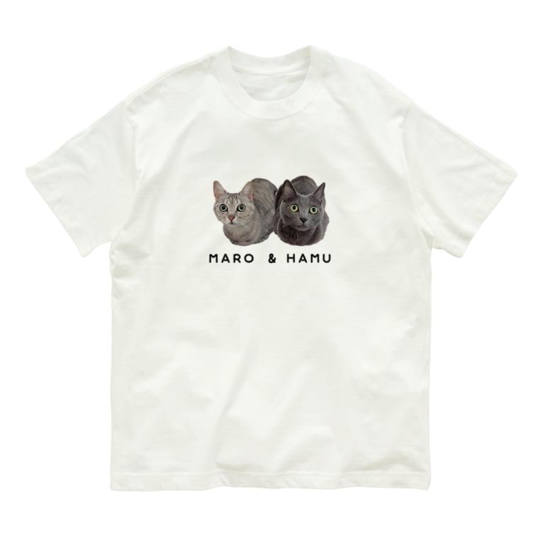 ねこほうチャンネルショップのハムマロ姉妹Tシャツ Organic Cotton T-shirts
