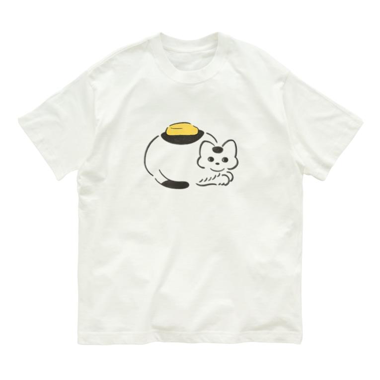 みかたきなこの背中にバター Organic Cotton T-shirts