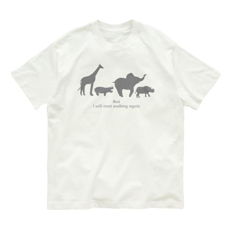 Ritora-BoraluaのAnd start walking again Organic Cotton T-shirts