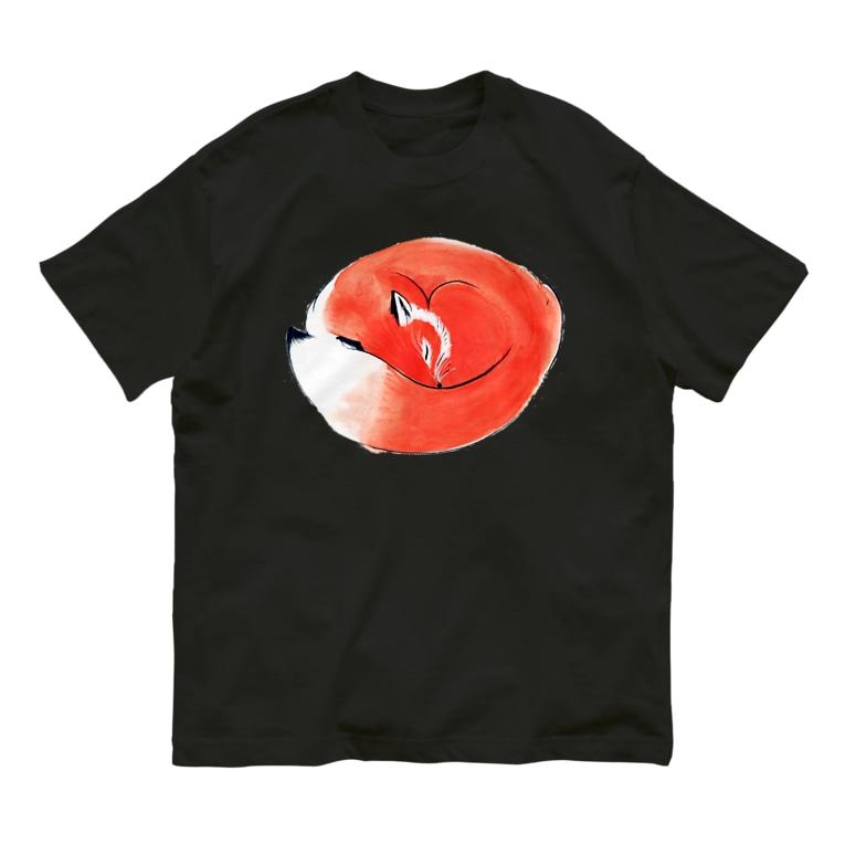 segasworksのねむりきつね Organic Cotton T-shirts