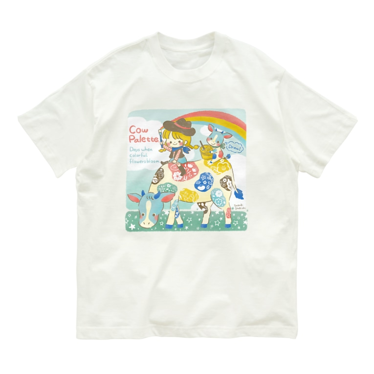 すずきいときちのウシパレット Organic Cotton T-shirts