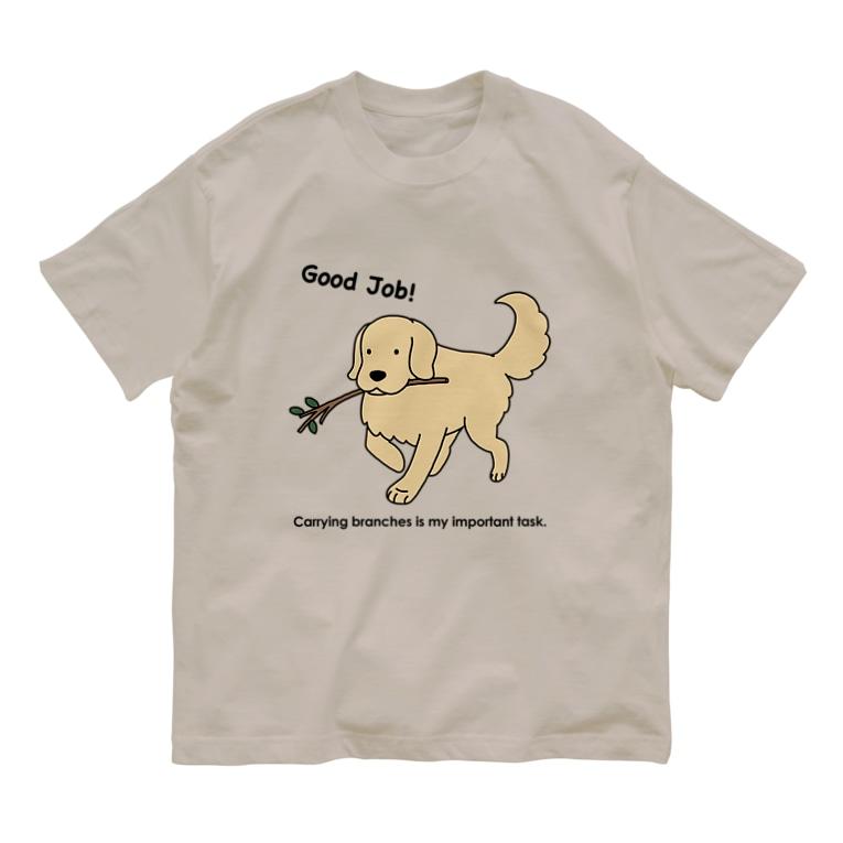 efrinmanのgood job(前面) Organic Cotton T-shirts