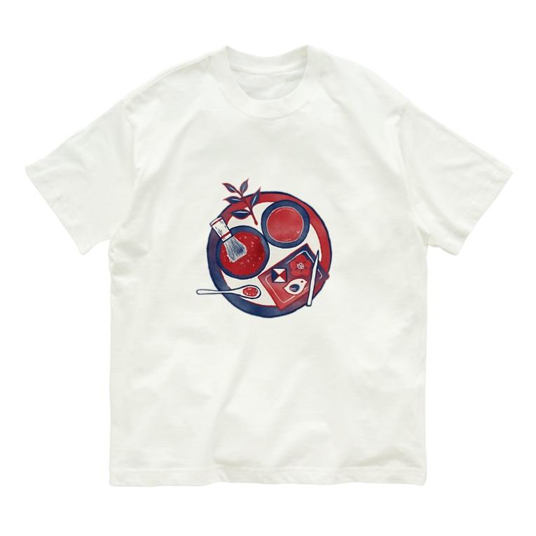 Akane Yabushita SUZURI Shopの 【日本レトロ#28】茶道 Organic Cotton T-shirts