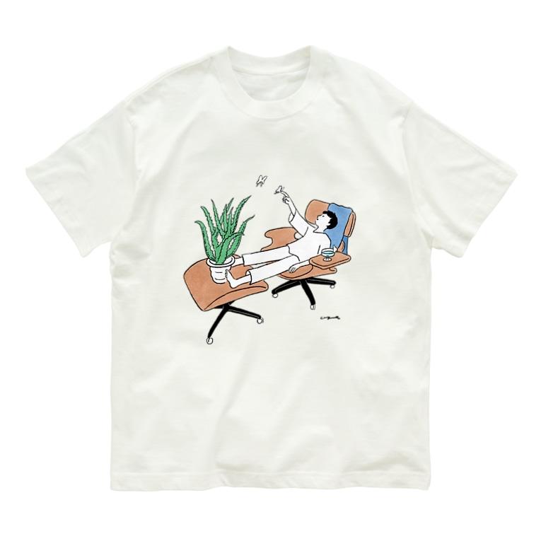 oyasmurのリラクゼーションルーム Organic Cotton T-shirts