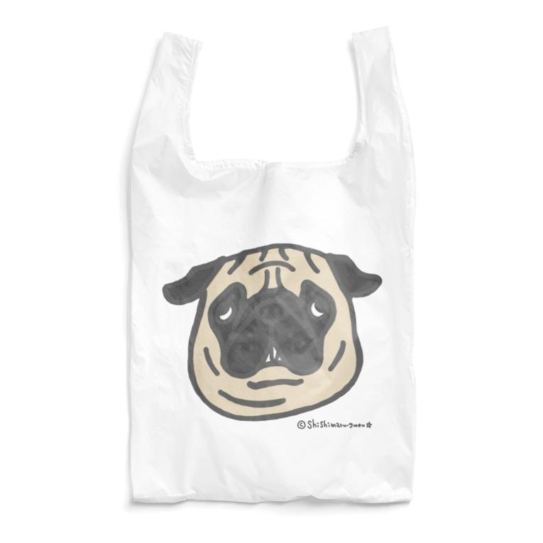 shishimaru-gmenのフォーンパグちゃん Reusable Bag