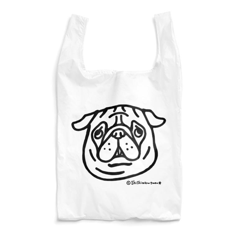 shishimaru-gmenのパグちゃん Reusable Bag