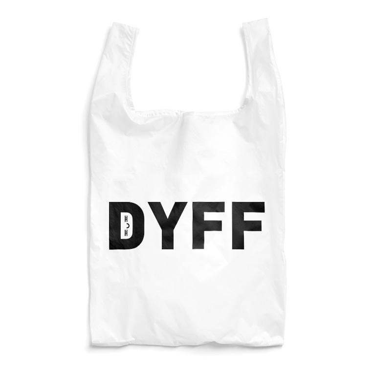 metao dzn【メタをデザイン】のデュフフ( ≖ᴗ≖ )(黒字) Reusable Bag