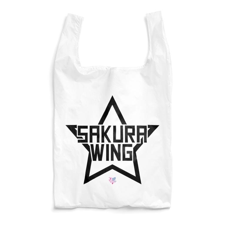 SAKURA WING LLC.のSAKURA WINGスター黒字 Reusable Bag