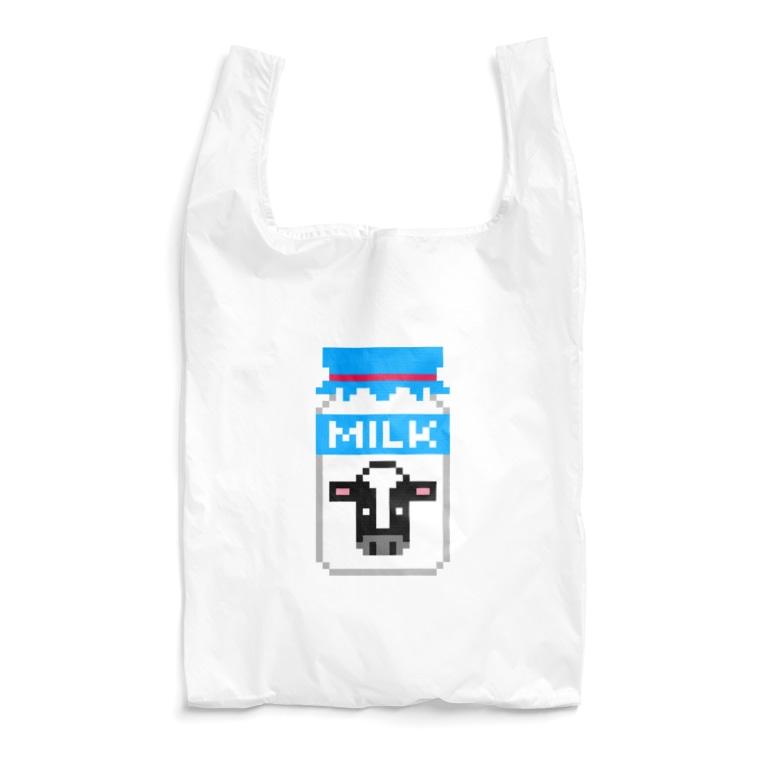 すとろべりーガムFactoryのドット牛乳 (レトロ瓶) Reusable Bag