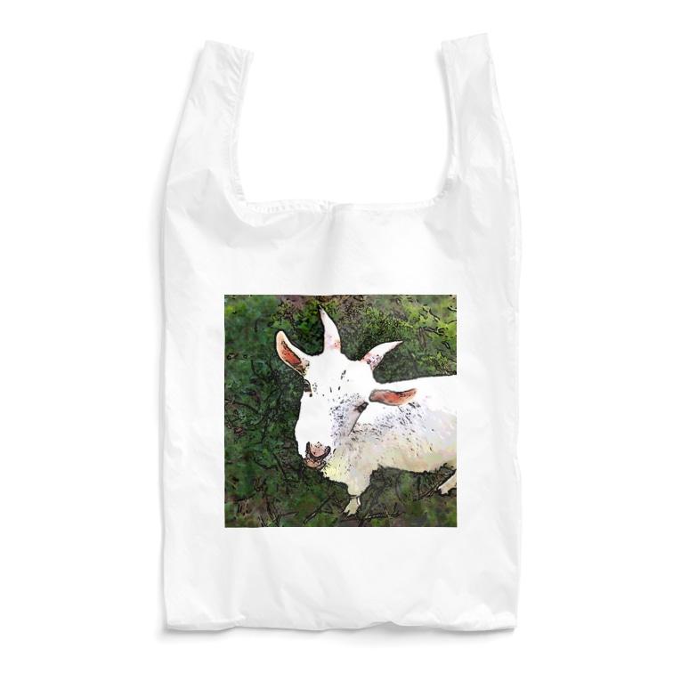 zakkaya 雑貨屋 孵 kaeruの遊ぼ。山羊。 Reusable Bag