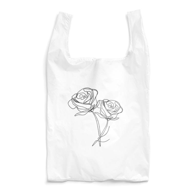 QB🦖のモノクロ_r Reusable Bag