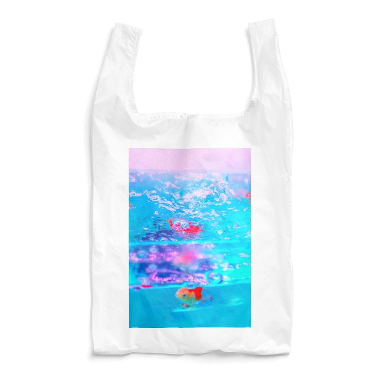 NEON LIGHT STARSの透明金魚タテ Reusable Bag