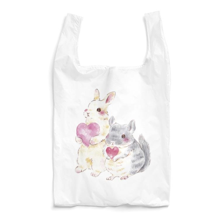 しず華*(カラー・リボンボン)のきゅんきゅん Reusable Bag