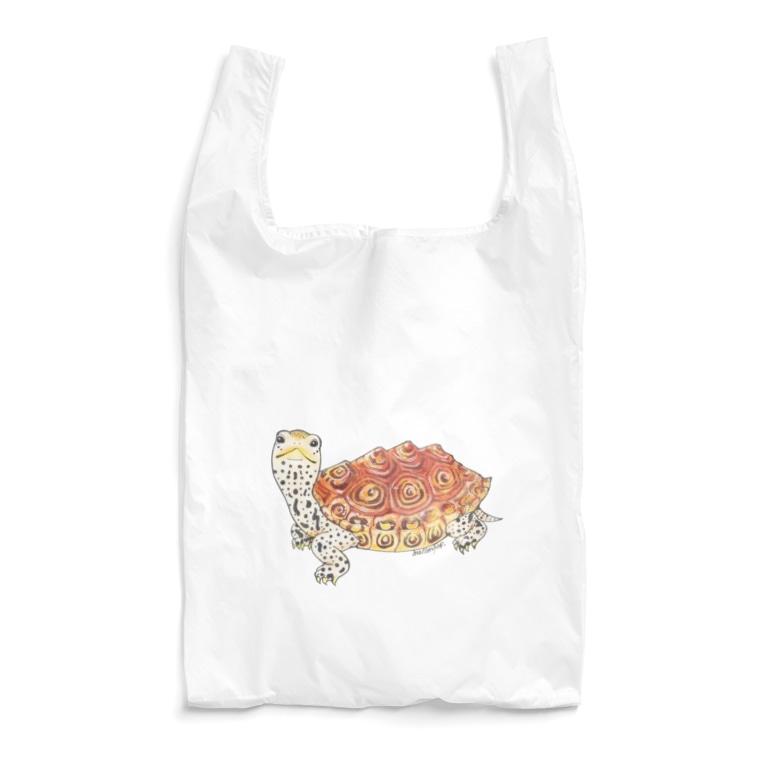 めろんぽっぷのお店だよのダイヤモンドバックテラピン(着色) Reusable Bag
